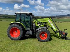 CLAAS AXOS 340 4WD TRACTOR REG.DX13 FAM FIRST REG 14/5/13 105HP C/W CLAAS FL100 LOADER AND A10