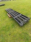 4 X 18FT STEEL CRASH BARRIERS