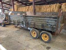 TWIN AXLE SIDE TIPPING TRAILER by kind permision