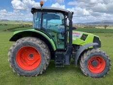 CLAAS ARION 440 4WD TRACTOR. REG.NO. DX17 CYV FIRST REG 1/4/17 125HP PANORAMIC ROOF APPROX 1800 HRS