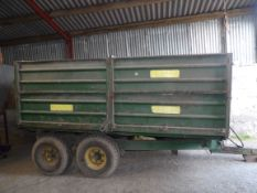FRASER 6T TWIN AXLE TIPPING TRAILER