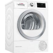 + VAT Grade C Bosch WTWH7660GB 9Kg Heat Pump Tumble Dryer - A++ Energy Rating - 8 Programmes -