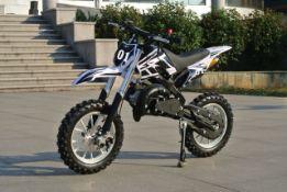 + VAT Brand New 49cc Falcon Mini Dirt Bike - Full Front & Rear Suspension - Disc Brakes - Easy Pull