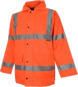 + VAT Brand New Orange Hi Viz Parka Coat Size Two Extra Large