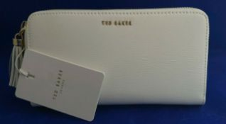 + VAT Brand New Ladies Leather Ted Baker Robyna Tassel Zip Around Matinee Purse (ISP £85 Ted Baker)