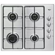 + VAT Grade A/B Bush DH60GNSS Gas Hob - Four Cooking Zones - Automatic Ignition - Side Mounted