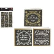 + VAT Brand New Three Packs Of 24 3D Gift Tags - Four Assorted Styles
