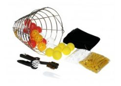 + VAT Grade A 140 Piece Golf Gift Basket Including Practise Balls - Golf Brush - 100 Wooden Tees
