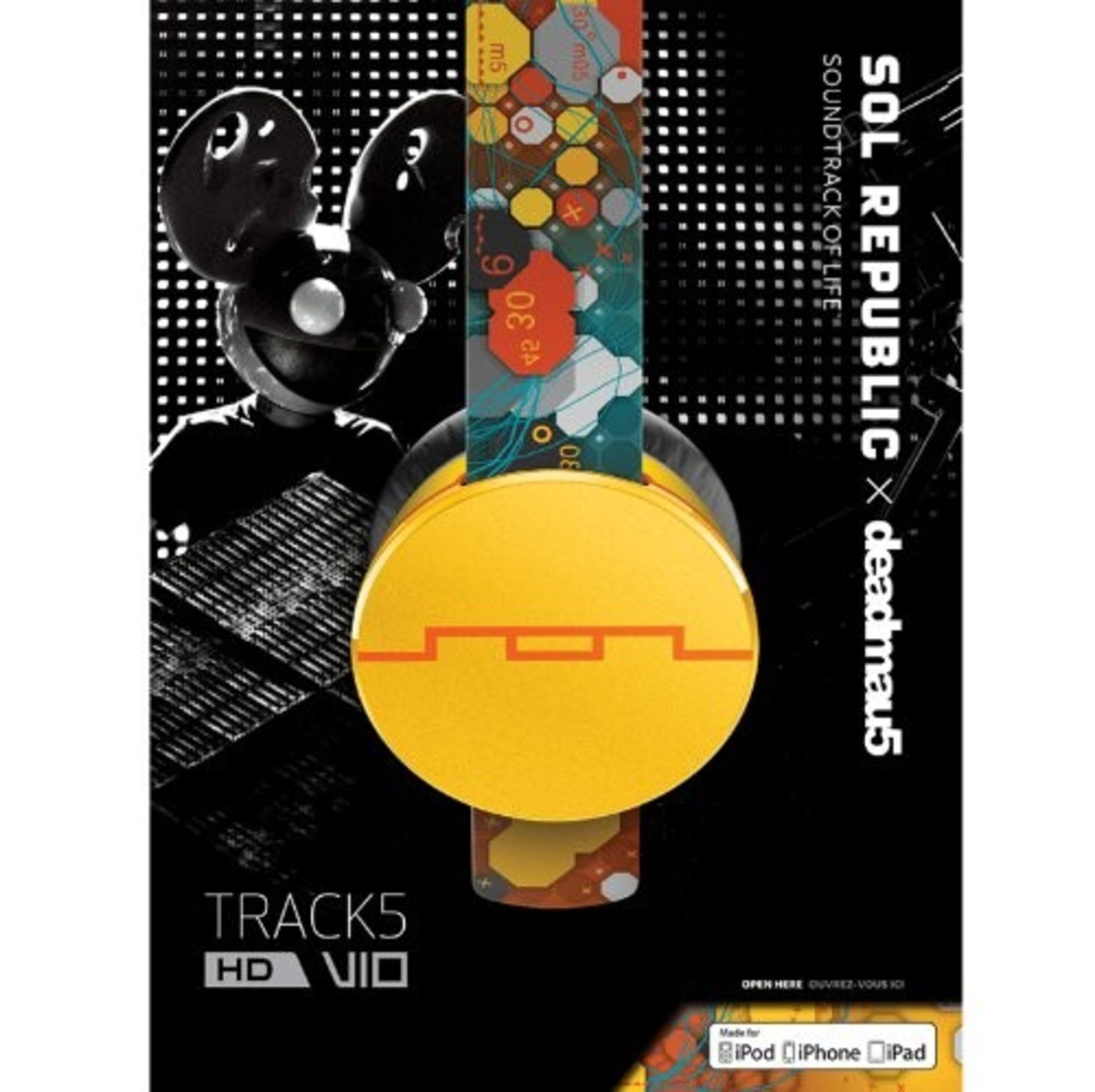 + VAT Brand New Sol Republic Tracks V8 Multicoloured - With Sonic Ear Cushions - Music & Phone - Image 2 of 2