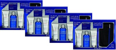 + VAT Brand New Four Gift Sets - Baylis and Harding The Ultimate Men's Kit Including 1 x 300ml Hair