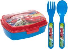 + VAT Brand New Disney Pixar Cars Sandwich Box With Cutlery