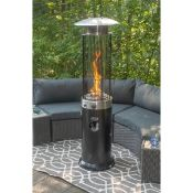 + VAT Brand New Chelsea Garden Company Wheeled Garden Gas Patio Heater With Cover - 2.11m Tall -