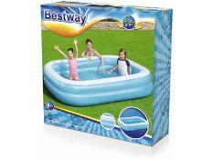 + VAT Brand New Bestway 2.62m Deluxe Rectangular Inflatable Paddling Pool - Two Interlock Quick