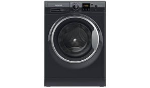 + VAT Grade A/B Hotpoint NSWM863CBS 8Kg 1600 Spin Washing Machine - 30 Minute Quick Wash - 16