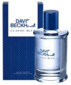 + VAT Brand New David Beckham Classic Blue 90ml EDT Spray