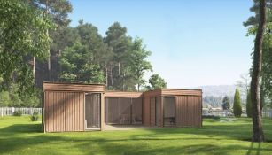 + VAT Brand New Glamping Cube 51 M2 U Shape - 3 x 3m (3 Pieces) - and 3 x 4m (2 Pieces) - Roof
