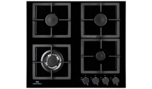 + VAT Grade A/B New World NWLEG60 Cast Iron Support Gas Hob - Four Gas Cooking Zones - Automatic