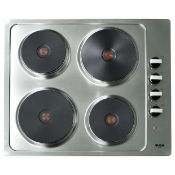 + VAT Grade A/B Bush RL60SPH Electric Solid Plate Hob - Four Cooking Zones - Side Mounted