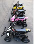 + VAT Brand New 49cc Hawk Mini Quad Bike - Colours May Vary - Full Front And Rear Suspension - Disk