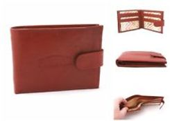 + VAT Brand New Gents Paradise Leather Wallet With Six Credit Card Slots-Two Bank Note Sections-
