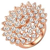 + VAT Brand New Rose Gold Plated Large Austrian Crystal Ring
