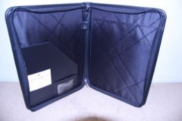 + VAT Brand New Samsonite Black Leather & Fabric Executive Folder With One Inner Pocket-Card