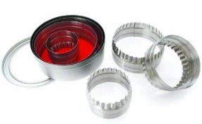 + VAT Brand New 6 Piece Stainless Steel Pastry Cutter eBay Price £11.10