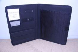 + VAT Brand New Samsonite Black Executive Folder With-Pen Pocket-Card Pockets-Wallet-SD Card Pocket