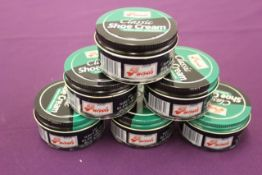 + VAT Brand New Six Jars Of 50ml Punch Classic Shoe Cream Navy Blue (Photo May Vary From Item)