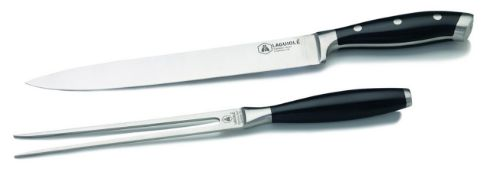 + VAT Brand New Laguiole Carving Set with Carving Knife and Meat Fork - Amazon price £24.99