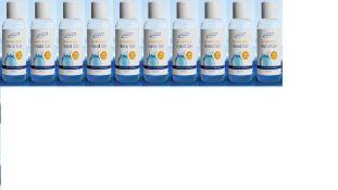 + VAT Brand New 10 x 50ml Snowden Pocket Sized Anti-Bacterial Hand Gel 70% Alcohol - Kills 99.9% Of