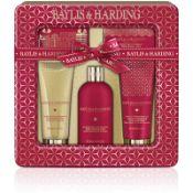 + VAT Brand New Baylis & Harding Midnight Fig & Pomegranite Ultimate Bathing Tin Gift Set Inc 300ml