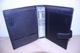 + VAT Brand New Samsonite Black Leather Executive Folder/Portfolio With Carry Handle-Ring Binder-