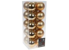 + VAT Brand New Set Of 20 Luxury Christmas Baubles