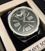 + VAT Brand New Gents Brave Soul Black Strap Watch with WM Case