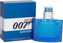 + VAT Brand New James Bond 007 OCEAN ROYALE EAU DE TOILETTE VAPORISATEUR 30ml