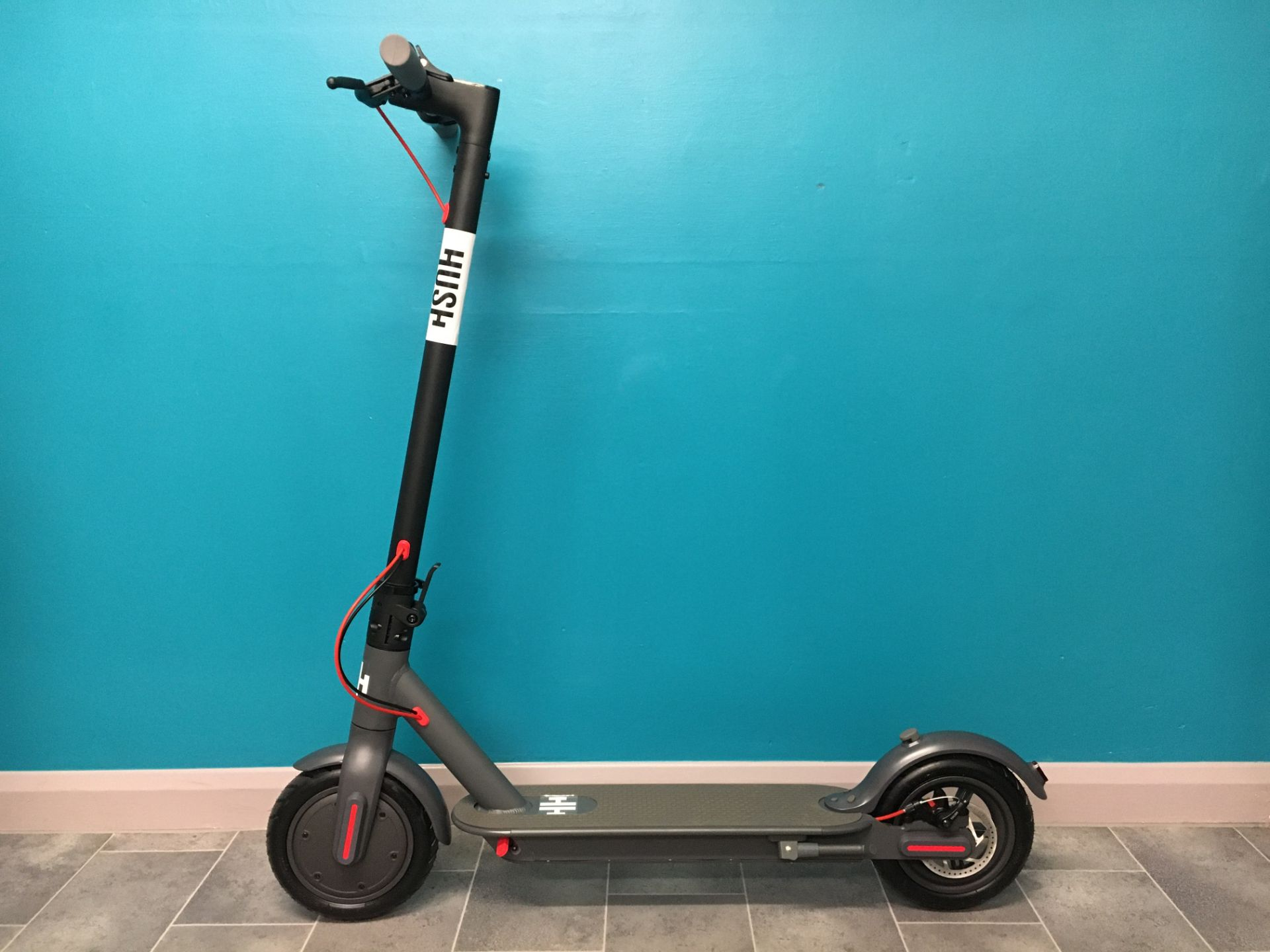 + VAT Brand New Hush Foldable Electric Scooter - Three Speeds - Max Speed 25km/h - ABS Disc