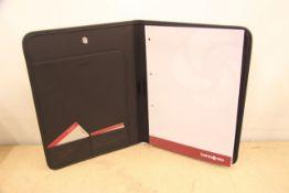 + VAT Brand New Samsonite Black Executive Folder With-Pen Pocket-Card Pockets-Note Pad
