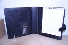 + VAT Brand New Samsonite Black Leather Executive Folder With Two Inner Pockets-Credit Card