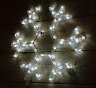 + VAT Brand New 40cm Light Up White Snowflake