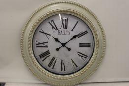 No VAT Grade U Large Cream Ballys Wall Clock