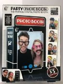 + VAT Brand New Portable Party Photo Booth - with 15 Props ISP £11.99 (Ebay)