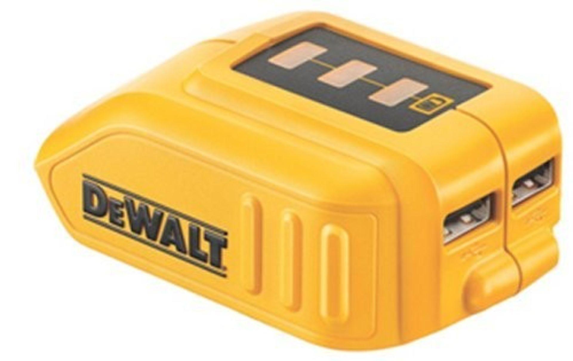 + VAT Brand New DeWalt DCB090 10.8v Lithium Ion USB Charger For XR Battery Packs