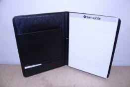 + VAT Brand New Samsonite Black Leather & Canvas Executive Folder With-Pen Pocket-Card Pockets-