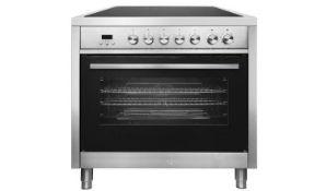 + VAT Grade B Bush BRCP90ESS 90cm Electric Range Cooker - Oven Capacity 103 Litres - Ceramic Hob