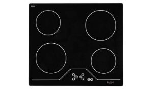 + VAT Grade B Bush A60CT Electric Ceramic Hob - Four Cooking Zones - Touch Control - Residual Heat