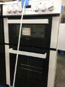 + VAT Grade B Bush DHBEDC50W 50cm Double Oven Electric Cooker - 2 Function For Versatile Cooking -