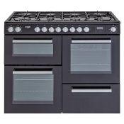 + VAT Grade B Bush BRC100DHMB 100cm Dual Fuel Range Cooker - Main And Second Oven 57 Litre Capacity