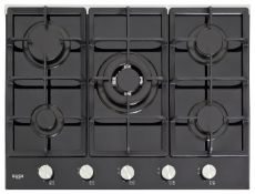 + VAT Grade B Bush B5BGHSS Gas Hob - Five Cooking Zones - Automatic Ignition - Front Mounted