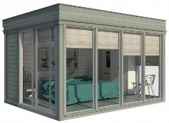 + VAT Brand New Insulated Cube Hotel Room Cabin - 3 x 4m - Insulated Walls + Glass Sliding Doors -